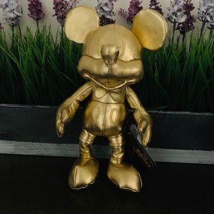 Mickeys 90th Small Gold Plush